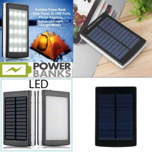 Solarni PowerBank + Led Svetlo NOVO 50000mAh