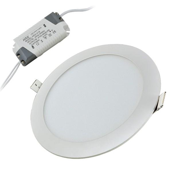 Ugradni LED panel okrugli 18W 4200K beli